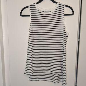 Zara Black and White Striped Tank Top Size M